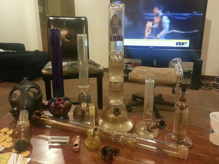Assortment of bongs