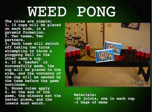 Weed Pong
