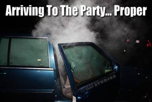 arriving to the party... proper