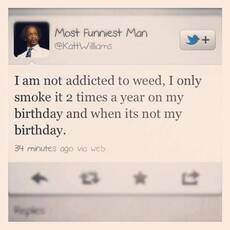 Kat Williams I am not addicted to weed