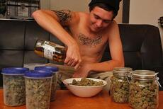 weed and beer