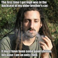 The first time I got high