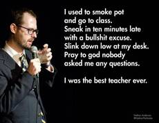 i used to smoke pot and go to class